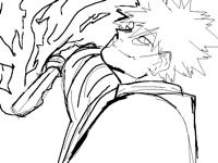 Dabi as a Demon Slayee (sketch)
