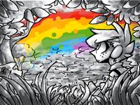 I cant draw rainbowssss