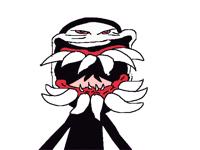Gear sus shows u his nice teeth