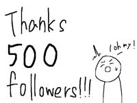 thanks 500 followers!