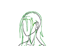 Still trying to draw hair