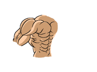 How I draw and shadow muscles #2