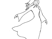 The girl in the wind (1st sketch)