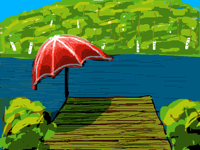 What's wrong with this lake ? (Finger drawn)
