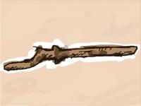 I found a cool stick that looks like a gun :0