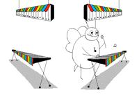 Une abeille qui joue du xylophone