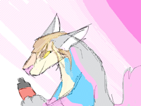 COCA-COLA (rainbow wolf)