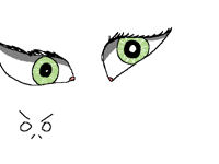 When you can't draw the other eye