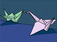 Origami Love Birds <3