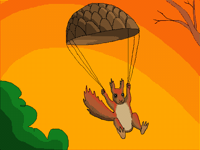 Squirrel & Parachute