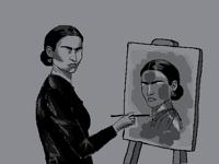 Frida Kahlo painting Frida Kahlo