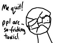 I quit folio bye...