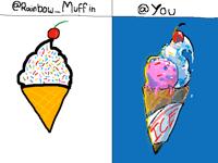 Here my ice cream @Rainbow_Muffin