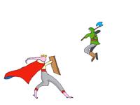 Technoblade VS Dream (just a picture)