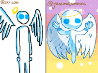 Draw angel @skribble