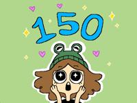 150 followers!