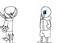 Nomoko vs sans(not completed 2 lol )