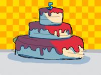 Turning cake