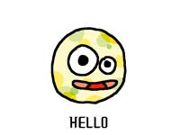 """Circle saying """"Hello?"""""""