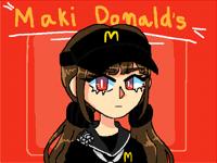 Maki harukawa the Mac Donald's worker