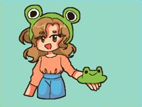 """""""Do you want this frog hat?"""""""