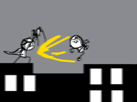 5.Gravity man vs Gun man