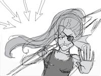 Undyne sketch