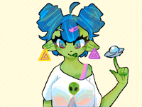 Extremely Colorful Alien
