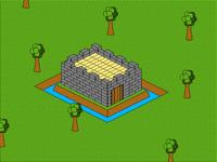 Little castle building (isometric)
