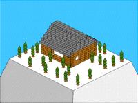 Isometric build 2: snowy house