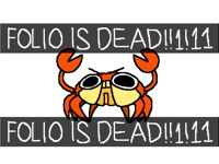 I think folio is ded for today only—