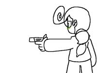 Testing the gun out..
