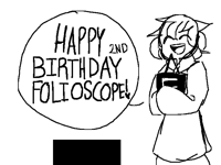 Happy 2nd Birthday Folioscope!