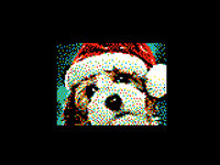 Realistic Dog Pixel Art