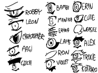 some of my ocs eyes