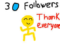 30 followers, thank you so much