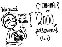 Congrats on 2000 followers