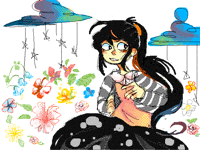 Flowers and Me (Old art|ReColored)