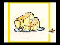 made a big fat pancake :,0