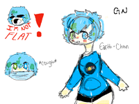 gn +doodles of earth-chan