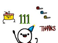 111followers!!!