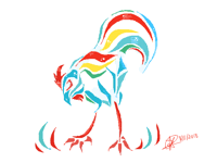 Asian rooster