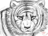 Semi realistic tiger
