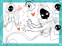 Ombwell doodles demon oc