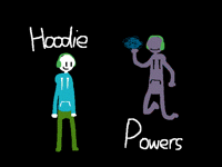 Guy With Hoodie And Powers Club