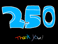 Thank You For 250 Followers!