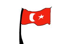 Hareketli Türk bayrağı