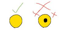 My Yellow eye true and FALSE!