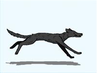 Nightmare Wolf Running