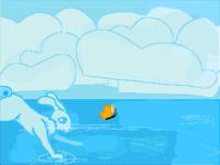 Jump on the water [loop]